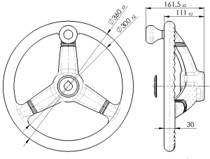 Model 360mm Diameter